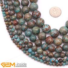 "Round Blue Crazy Lace Agate Gemstone Jewellery Making Loose Beads Strand 15"" AU"