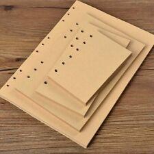 A5/A6/A7 45 Sheets Blank Kraft Planner Diary Insert Refill Schedule Organiser