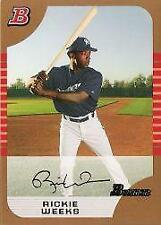 2005 Bowman Draft Gold Baseball Card Pick 1-165