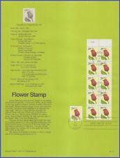 US #2527a U/A SOUVENIR PAGE FDC BKLT10  Flower