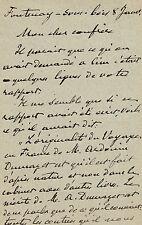 Hector MALOT  Lettre autographe signée à un confrère.