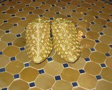 Moroccan Slippers  gold -Gold Moroccan Slippers -Gold slippers -Gold slipper