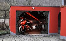 3D Red Motorcycle Garage Door Murals Wall Print Decal Wall Deco AJ WALLPAPER CA