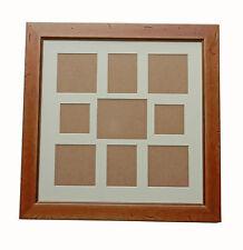 PINO antico cornice foto in legno con effetto invecchiato contiene 9 FOTO/STAMPE VARIE TAGLIE