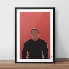 Dr Dre INSPIRED WALL ART Print / Poster Minimal A4 A3 rap rapper chronic nwa