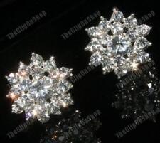 CLIP ON rhinestone BIG DIAMANTE STAR crystal EARRINGS