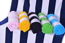 Cabana Striped Beach Towel, Resort Pool Towel,100% Cotton  XL Oversized 35 X 60