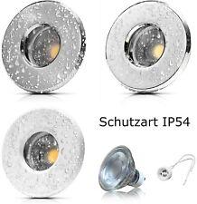 Badeinbaustrahler Feuchtraum Nassraum Dusche Vordach IP54 mit LED Lampe 230V 7W