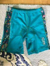 Sls3 Triathlon Women's Size M Shorts Turquoise w/Floral Side Panels