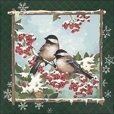Anita Phillips: Invierno Carboneros II Camilla-imagen de pantalla Pájaros
