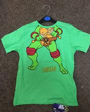 Teenage Ninja Turtle Tshirt Top Short Sleeve Boys Grey Gray Leonardo 1447112