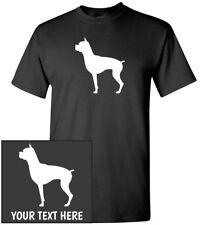 Boxer Dog Silhouette T-Shirt, Men Women Kids Long Tank Personalized Custom Tee