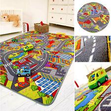 Kinderteppich Spielteppich Straße Strassenteppich Kinderzimmer Teppich Kind Auto