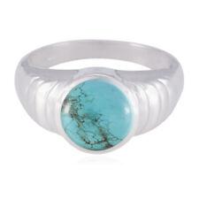 echte edelsteine cabochon türkis 925 silber ringe geschenk für black friday -d