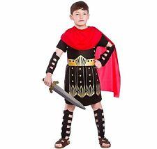 Boys ROMAN COMMANDER Gladiator Solider Fancy Dress Book Week Costume Age 5-13