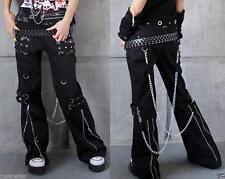Mens Punk Gothic womens mens harem pants Trousers hip hop chain Visual Kei Rock