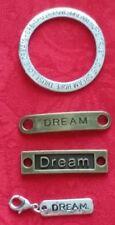 DREAM CHARM BRACELET CONNECTORS - WISHBONE - HOPE - FAITH - LIVE - LAUGH