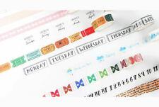 Infeel.me Washi Tape Masking Tape, für Notiz Index Planen, «Traveler» 15mm x 7m