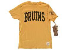 "Boston Bruins Retro Brand Gold ""Bruins"" 100% Cotton Short Sleeve T-Shirt"