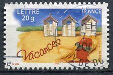 FRANCE TIMBRE OBL N° 3788 TIMBRE DE VACANCE SUR FRAGMENT