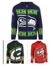 NFL Football Team Logo Full Zip Hooded Sweater - Pick Your Team!