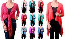 New Lot Cover up Drape Jacket Sheer Stretch Bolero Shrug Cardigan XS S M L