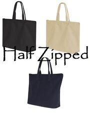 10 Liberty Bags 10 oz Cotton Canvas Tote Bag Zipper Top Closure 8863 WHOLESALE