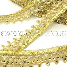 Apliques de tela del ajuste ribete dorado de diamante de imitación, ribete Motif,, recorte, Lentejuelas, perlas