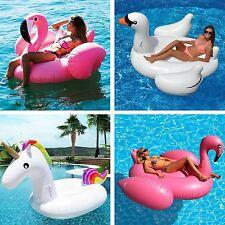 Inflatable Giant/Single/Double Flamingo Swan Pool Float Raft Swimming Water Fun