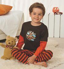 Boys Pyjamas Set Printed Motif Design Full Length Kids Size 2 3 4 5 6 7 Years