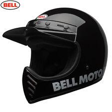 Bell CRUISER 2017 MOTO 3 Moderno Clásico Negro Moto Mx Casco