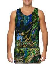 Yizzam- Building Fractal Design Pattern Green - New Men Tank Top Tee Shirt XS S