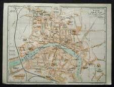 Antica Stampa=Topografica=PISA=Scala1:14000 -1907c