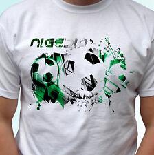 Nigeria football flag white t shirt soccer africa style mens womens kids sizes