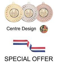 Offre spéciale 10 x Athlétisme Métal 50 mm Médailles & Rubans