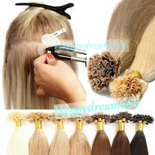 Keratin Fusion Nail Tip U Tip Hair Extensions Double Drawn Remy Human Hair 1g/s