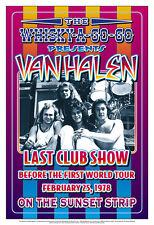 Van Halen at the  Whisky A Go Go Concert Poster 1978