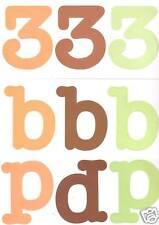 TLC MONOGRAMS ABC's/123's Full Set Scrapbooking FRESH Alphabet Numbers Card