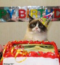 Grumpy Cat Birthday Edible Icing Image
