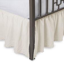 Eyelet Ruffled Bedskirt with Split Corners