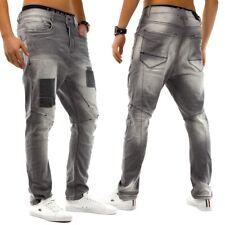 Pantalones Vaqueros de hombre pantalón pitillo Clubwear Loose Fit ENTREPIERNA