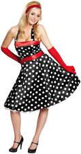 Punktekleid Kleid 50er Jahre Rock'n'Roll schwarz Karneval Kostüm 34-44