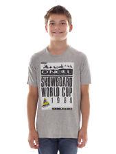 O´NEILL Tee-shirt Nicki Jack ´s BUSTE GRIS COL ROND photo imprimé logo
