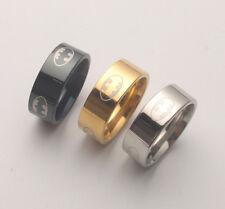 3PCS Fashion Titanium Stainless Steel Batman Ring