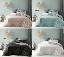 Maison Linen Cotton Vintage Wash Quilt Doona Cover Set - SB DB Queen King Super