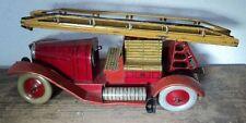 altes Blech Blechspielzeug Feuerwehr Feuerwehrauto Delahaye JEP