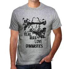 Gymnastics, Real Men Love Gymnastics Homme T-shirt Gris Cadeau 00540