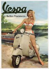 VESPA scooter poster 60's Italie chic Rétro Grande AD poster décoration murale chaud