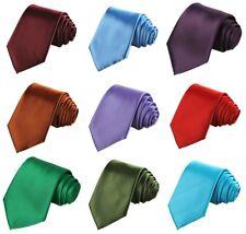 Solid Satin Tie Solid Colors Necktie Men's Wedding Ties Multiple Colors