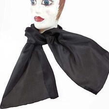 Halstücher - Schals  reine Seide handcoloriert umweltfreundliche Farben schwarz
